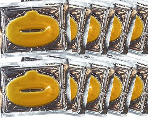 EBP 24K Collagen Set: 10 x 10 Masks + 10 x Lip Masks. Firm, Tone, Skin