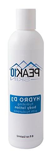PEAK 10 SKIN - Hydro D3 body lotion with Vitamin D3 & Hyalur