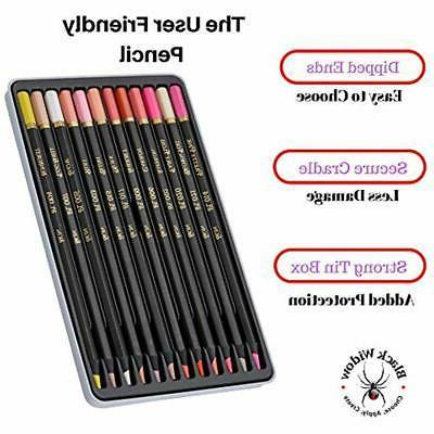 Light Skin Tone Pencils Portrait Set Colored
