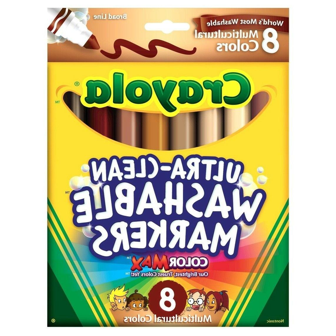 multi ethnic ultra clean washable markers conical