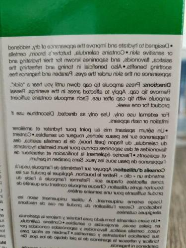 NIB WILMA EUROPEAN SOOTHING SERUM Sensitive, Dry, Tone