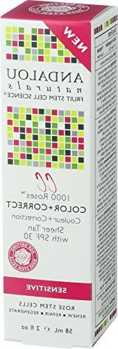 Andalou Naturals 1000 Roses Color Plus Correct Sheer Nude SP