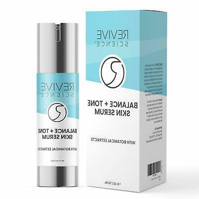 revive science balance tone skin serum