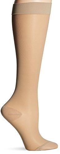 Dr. Scholl's Women's Sheer Moderate Support Socks,  Beige, S