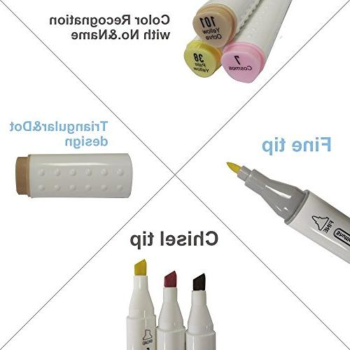 Shuttle Skin Hair Dual Tip Marker, Permanent Marker Pens Double Ended Bullet and Manga, Sketch
