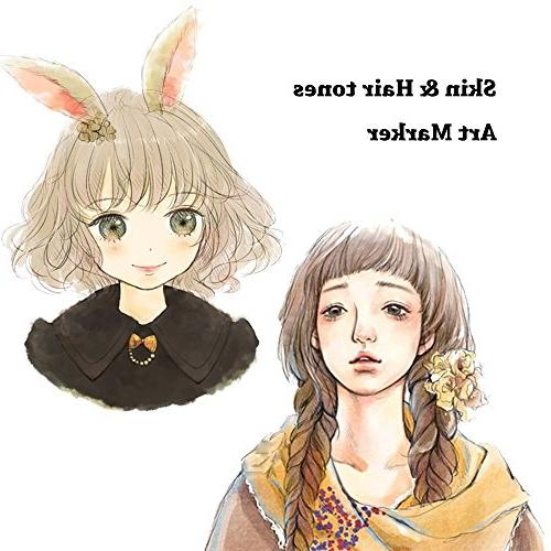 Shuttle 26 Skin Dual Tip Art Permanent Marker Pens Double Ended with and Point Tips Perfect Manga, Sketch