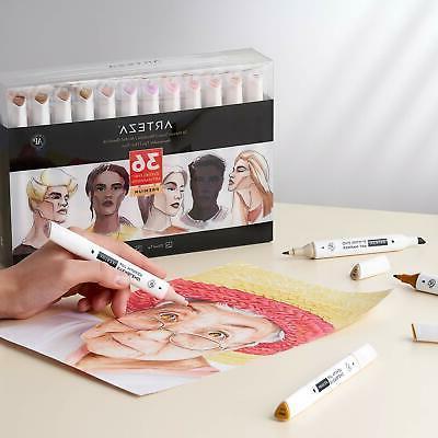 ARTEZA Based Art Set of 36 Dual Tips