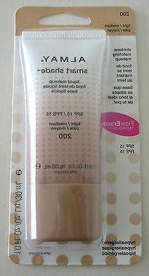 Almay Smart Shade Liquid Makeup SPF15 Light/Medium 200 SKINT