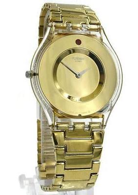 Swatch Women's Swiss Punto Rosso Exotic Charm Gold-Tone Pvd