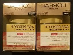 L'Oreal Age Perfect Cell Renewal Rosey Tone Mask, Set of 2.