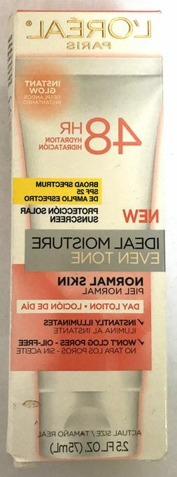 L'Oreal Ideal Moisture Even Tone Day Lotion SPF 25 Normal Sk