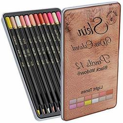 Light Skin Tone Color Pencils Portrait Set - Colored Adults