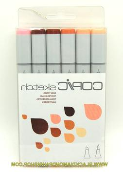 Copic Markers 6-Piece Sketch Set, Skin Tones I. .