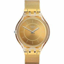 Swatch Men's SVOK100M 'Skin' Gold-Tone Stainless Steel Milan