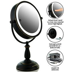 Ovente MPT75BZ Multi Touch Tabletop Makeup Mirror with 3 Ton