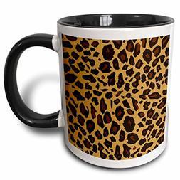 "3dRose mug_112932_4 ""Leopard Print Cheetah Spots Beige Brown"