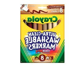 Crayola Multi-Ethnic Ultra-Clean Washable Markers,Conical Ti