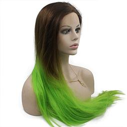 Mxangel Long Straight Heat Resistant Synthetic Lace Front Br
