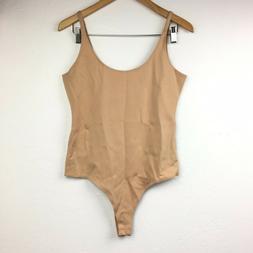 NEW Shinestar Bodysuit Womens Tank Top One Piece Skin Tone B