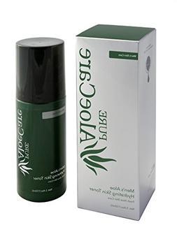 PURE AloeCare Men's Organic Aloe Hydrating Skin Toner, Insta