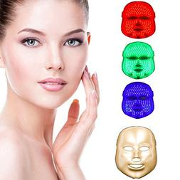 Gorkevin LED Photon Therapy 3 Colors Light Treatment Facial