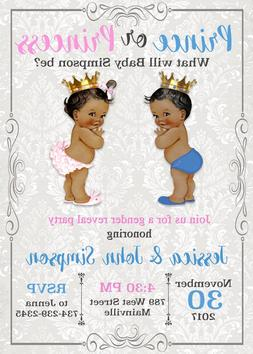 Prince or Princess Gender Reveal Invitation, Boy or Girl - A