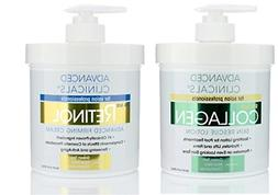 Advanced Clinicals Retinol Cream and Collagen Cream Skin Car