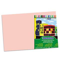 Riverside Construction Paper, 76 lbs, 12 x 18, Salmon, 50 Sh