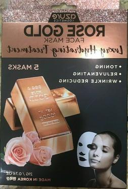 Rose Gold Luxury Hydrating Face Mask - Reduces Fine Lines an