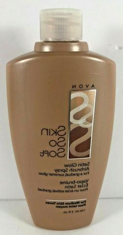 AVON Skin So Soft SATIN GLOW Airbrush Spray Medium Skin Tone