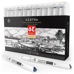 Skin Tone Alcohol Based Everblend Art Markers Set 36 Colors