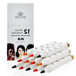 skin tone brush marker set 6 flesh