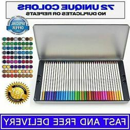 Platinum Art Supplies Soft Core Colored Pencils with Tin Cas