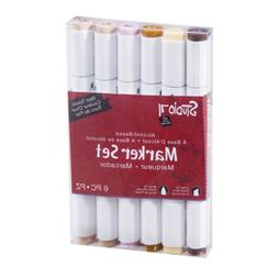 Darice Studio 71, Skin Tones, 6 Piece Alcohol-Based Marker S