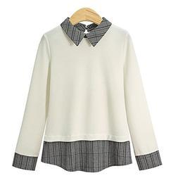XinDao Women's Sweatshirt Pullover Layered Twofer Work Shirt