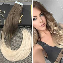 Ugeat 22 inch Tape on Hair Extensions 100% Real Human Hair E