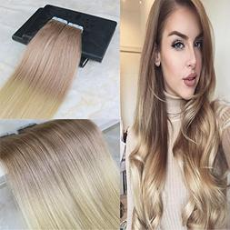"HairDancing 22"" Tape in Hair Extensions Two Tone Ombre PU Sk"