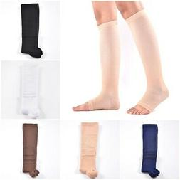 Unisex Middle Tube Socks Solid Color Nylon Open Toe Socks Ou