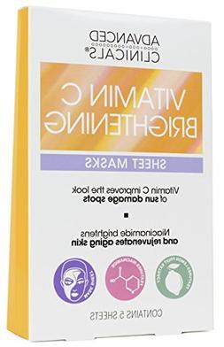 Advanced Clinicals Vitamin C Brightening Sheet Mask for dark