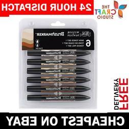 Winsor & Newton Brushmarker 6 Pen Brush Marker Set - Skin To