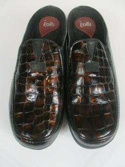 1803 Women's Shoes Copper Tone Snake Skin Pattern Leather Sh
